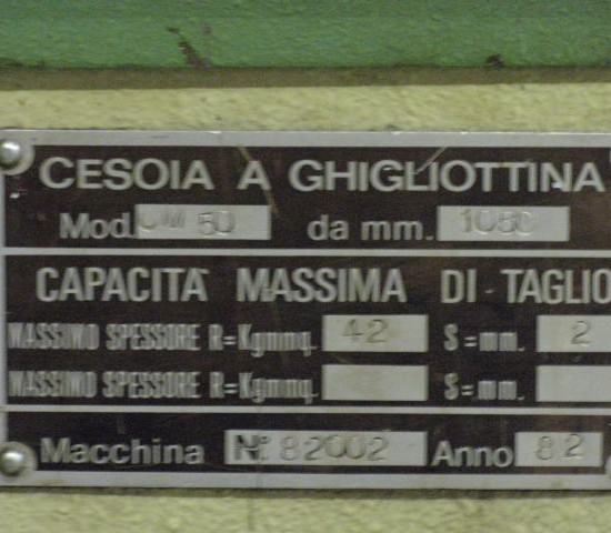 Schaar-plaat Cesoia 3